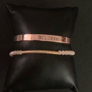 Jewelry - Trendy Inspirational Stack Bracelets set